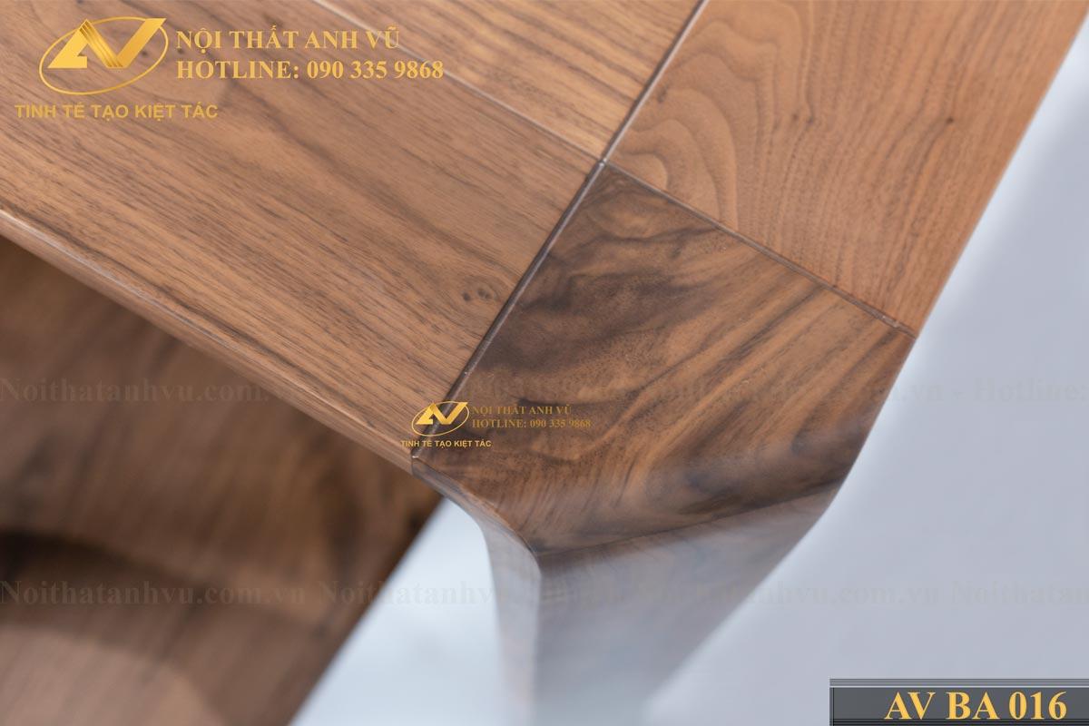 Bộ bàn ăn 6 ghế gỗ óc chó tự nhiên AV-BA 016 - Nội thất Anh Vũ