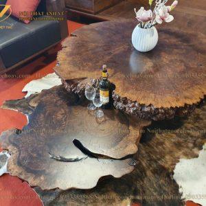 bàn trà nu gỗ óc chó avbt008-1