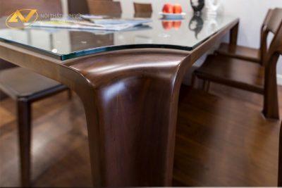 Bộ bàn ăn gỗ óc chó 007 - Nội thất Anh Vũ