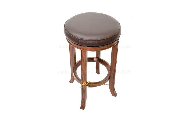 Ghế gỗ tròn bằng gỗ óc chó tự nhiên - Nội thất Anh Vũ