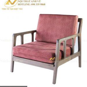 ghế sofa gỗ óc chó SFD 001 có thiết kế đơn giản thanh lịch