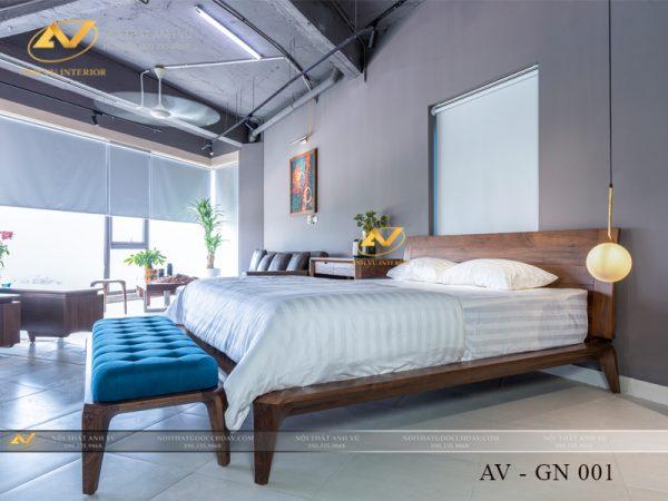giường ngủ gỗ óc chó đẹp AV GN 001