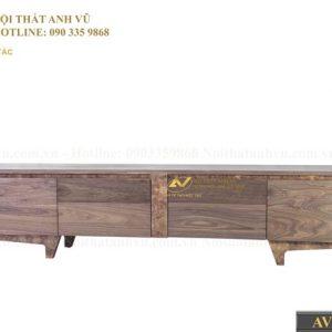 kệ tivi gỗ óc chó AV KTV 014 có thiết kế cuốn hút
