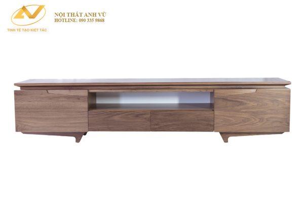 Mẫu kệ tivi đơn giản gỗ óc chó AV-KTV 002 - Nội thất Anh Vũ
