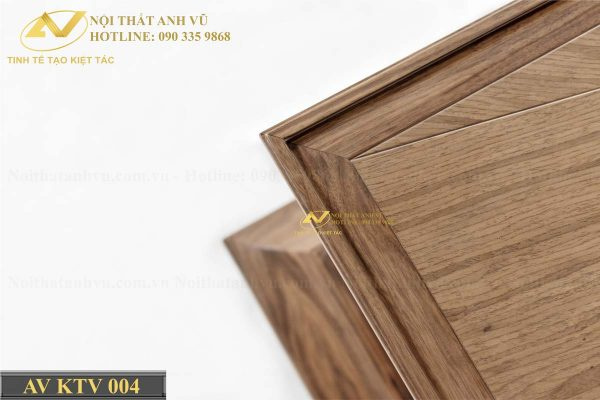 Mẫu kệ tivi gỗ đẹp óc chó AV-KTV 004 - Nội thất Anh Vũ