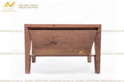 Táp để đầu giường bằng gỗ óc chó AV-TĐG 010 - Nội thất Anh Vũ