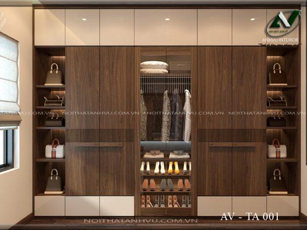 tủ quần áo gỗ óc chó AV TA 001
