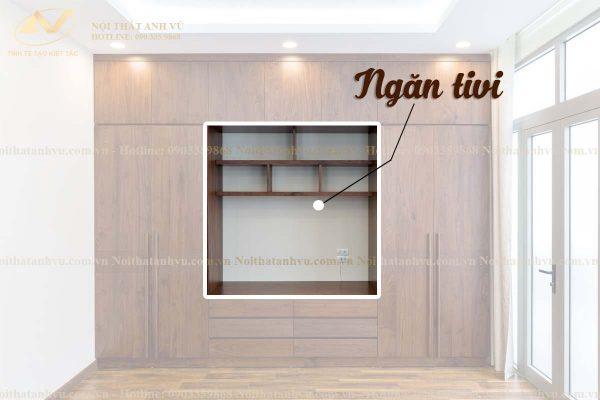 Tủ quần áo 3 buồng gỗ óc chó AV-TA 004 - Nội thất Anh Vũ