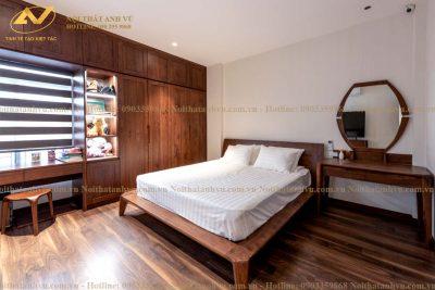 Tủ quần áo gỗ đẹp AV-TA 015 - Nội thất Anh Vũ