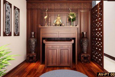Tủ thờ gỗ đẹp hiện đại AV-PT 002 - Nội thất Anh Vũ