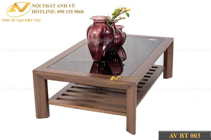 bàn trà đẹp gỗ óc chó avbt 003-1