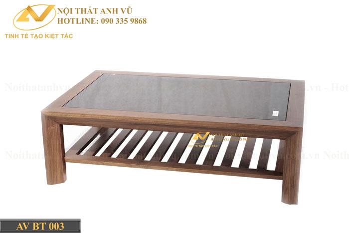 bàn trà đẹp gỗ óc chó avbt 003-2
