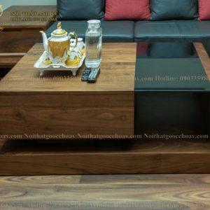bàn trà đẹp gỗ óc chó avbt 001-3