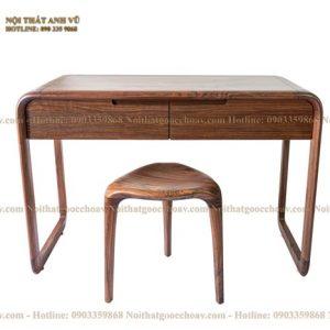 bàn trang điểm gỗ óc chó avbtd002-1