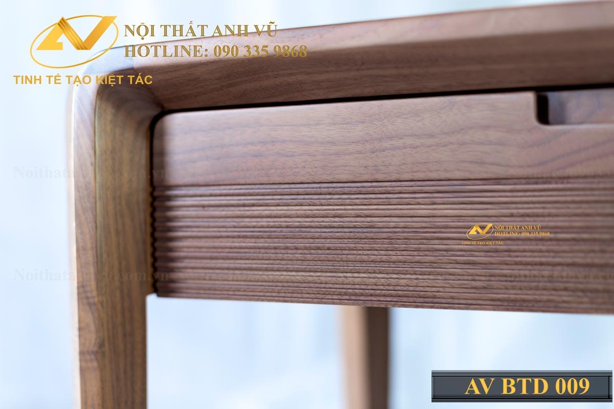 Bàn trang điểm bằng gỗ óc chó AV-BTĐ 009 - Nội thất Anh Vũ