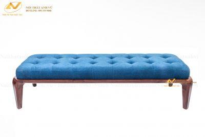 Đôn cuối giường gỗ óc chó cao cấp 002 - Nội thất Anh Vũ