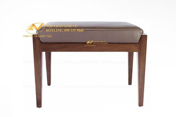 Đôn ghế gỗ óc chó cao cấp 005 - Nội thất Anh Vũ