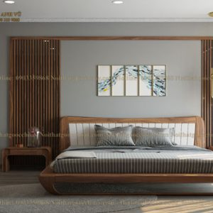 giường ngủ gỗ óc chó avgn002-4