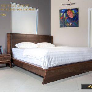 giường ngủ gỗ óc chó avgn009-1