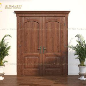 mẫu cửa gỗ tự nhiên avcg016-4