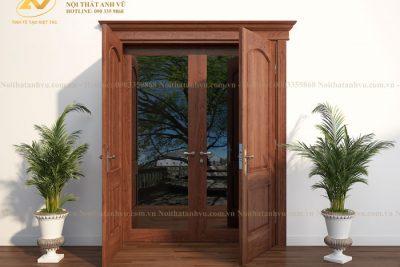 mẫu cửa gỗ tự nhiên avcg016-5