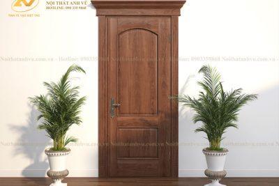 mẫu cửa gỗ tự nhiên avcg017-2