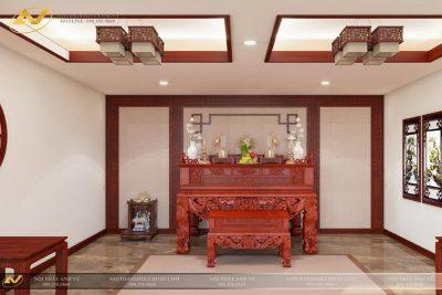 Bàn thờ gỗ gõ đỏ cao cấp AV-PT 004 - Nội thất Anh Vũ