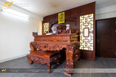 Mẫu sập thờ đẹp gỗ óc chó AV-PT 007 - Nội thất Anh Vũ
