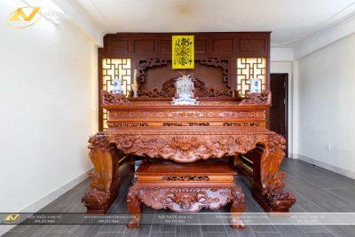 Mẫu sập thờ đẹp gỗ óc chó AV-PT 007- Nội thất Anh Vũ