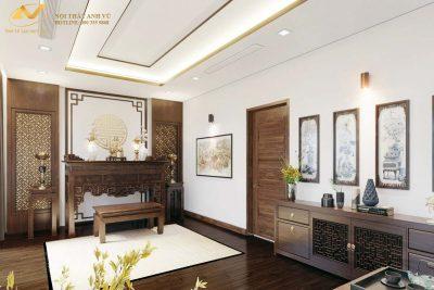 Mẫu bàn thờ gỗ đẹp óc chó AV-PT 008 - Nội thất Anh Vũ