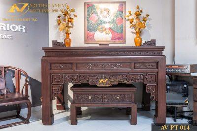 Bàn thờ gỗ đơn giản óc chó AV-PT 014 - Nội thất Anh Vũ