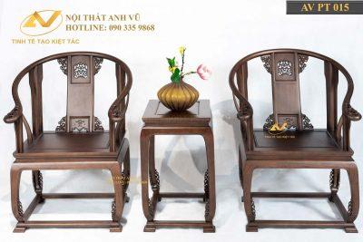 Ghế thờ đẹp gỗ óc chó AV-PT 015 - Nội thất Anh Vũ
