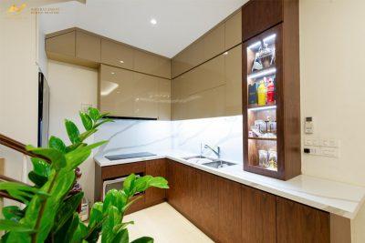 Mẫu tủ bếp đẹp hình chữ L AV-TB 002 - Nội thất Anh Vũ