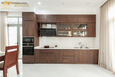 Mẫu tủ bếp đẹp hình chữ I AV-TB 008 - Nội thất Anh Vũ
