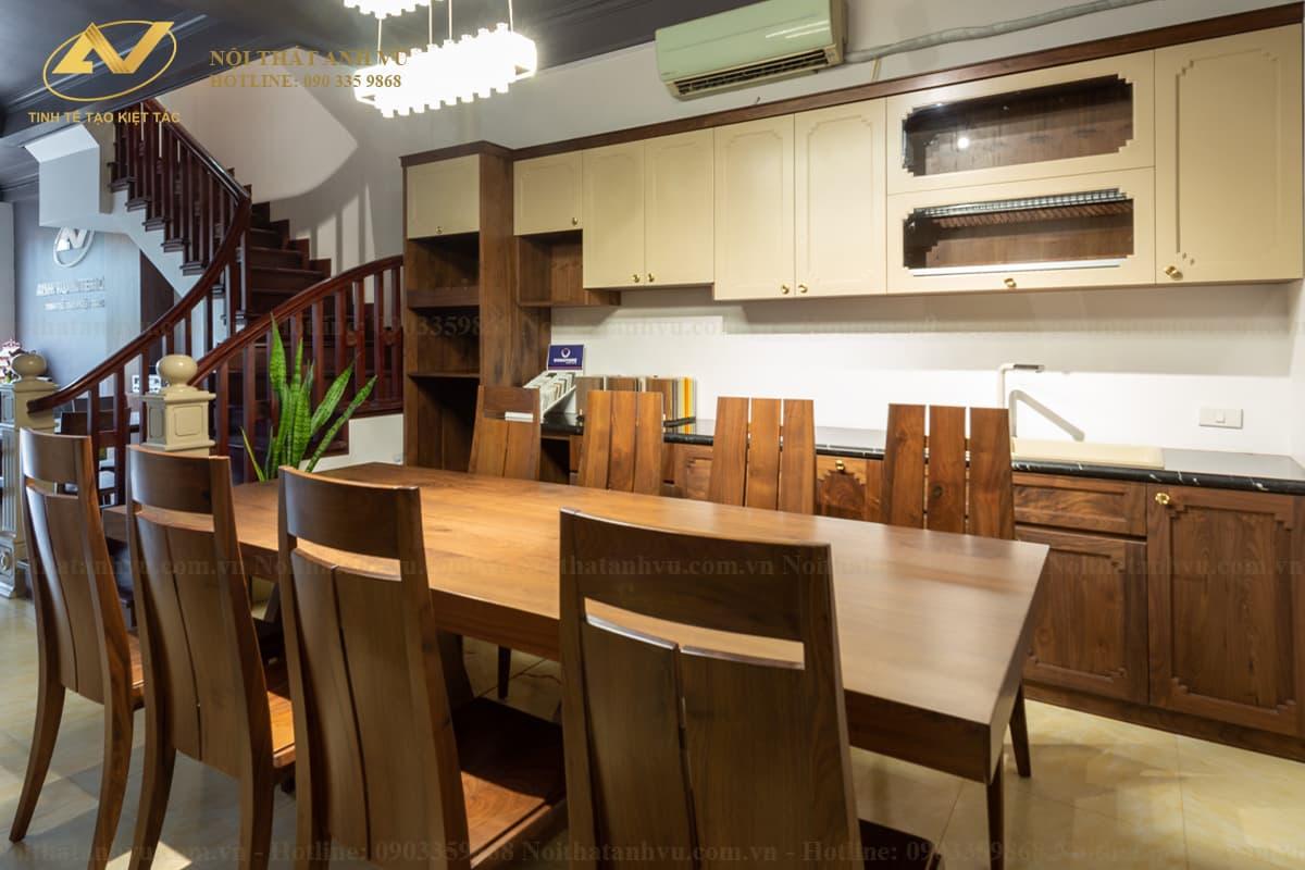 Tủ bếp gỗ Óc chó 010 - Nội thất gỗ Óc chó