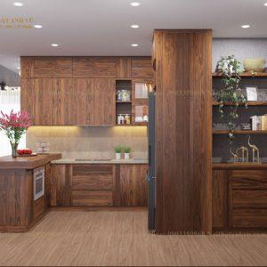 tủ bếp gỗ óc chó avtb 005-1