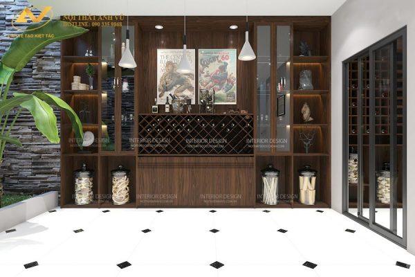 Tủ rượu âm tường đẹp AV-TR 005 - Nội thất Anh Vũ