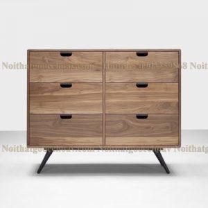 tủ trang trí gỗ óc chó avtt003-4