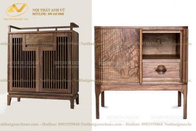 Tủ gỗ nhỏ đựng đồ đẹp AV-TT 001 - Nội thất Anh Vũ