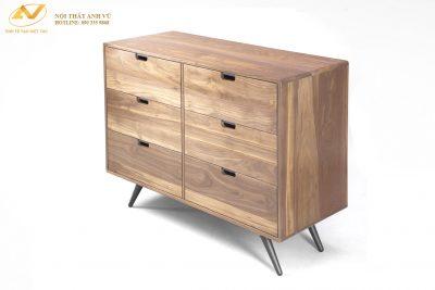Tủ gỗ 6 ngăn gỗ óc chó AV-TT 003 - Nội thất Anh Vũ