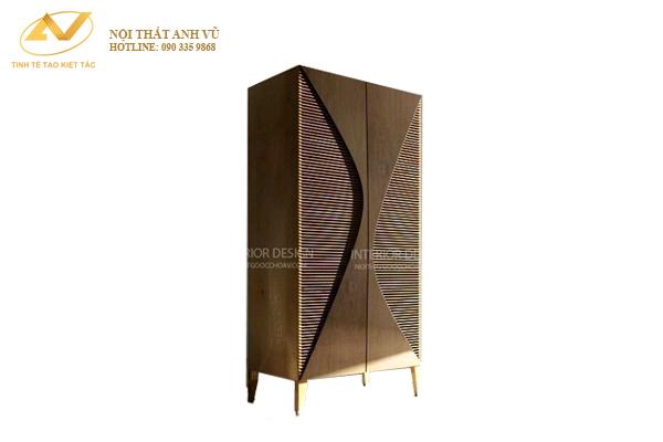 Tủ đứng gỗ óc chó AV-TT 004 - Nội thất Anh Vũ