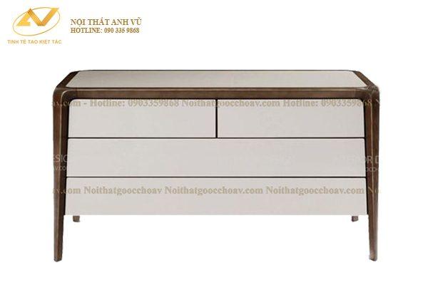 Mẫu tủ gỗ 4 ngăn kéo AV-TT 007 - Nội thất Anh Vũ