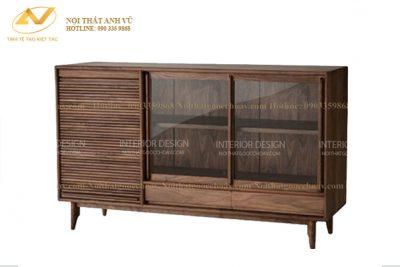 Tủ gỗ kính đẹp hiện đại AV-TT 008 - Nội thất Anh Vũ