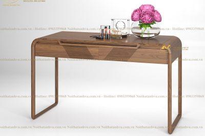 Bàn trang điểm đẹp bằng gỗ Óc chó 003 - Nội thất gỗ Óc chó