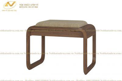 Ghế đôn bàn trang điểm gỗ Óc chó - Nội thất gỗ Óc chó