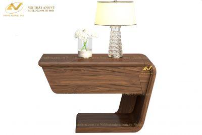 Táp đầu giường bằng gỗ óc chó - Nội thất Anh Vũ