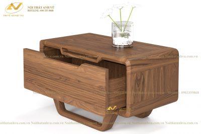Táp gỗ đầu giường gỗ Óc chó - Nội thất Anh Vũ