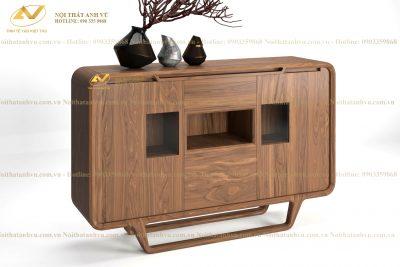 Tủ ngăn kéo gỗ Óc chó đẹp AV-TT 009 - Nội thất Anh Vũ
