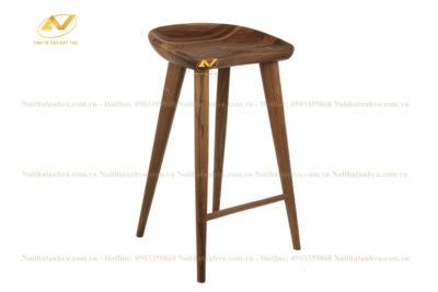 Ghế bar cao gỗ Óc chó Bắc Mỹ - Nội thất gỗ Óc chó
