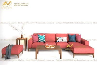 Bộ sofa gỗ góc chữ L - Nội thất Anh Vũ